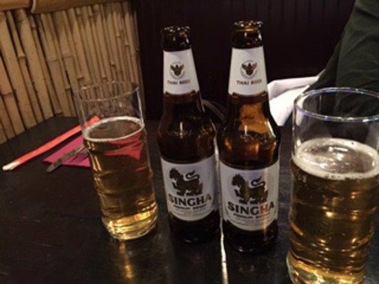 Bamboo Shoot: Cold Singha Beer