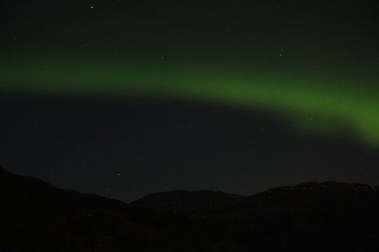 More og Romsdal, Norway: NOORDERLICHT prachtig was het! Vanaf deze locatie gezien!