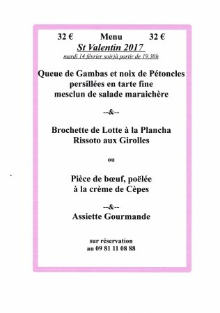 Besse-sur-Issole, ฝรั่งเศส: La terrasse de GB à besse sur issole vous propose pour fêter la St Valentin