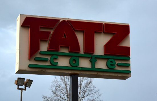 FATZ: Sign on S Sterling, Next to Las Salsas