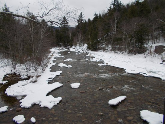 Kancamagus Highway: snow covered creeks