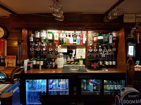 Wimborne Minster, UK: Well stocked historic bar