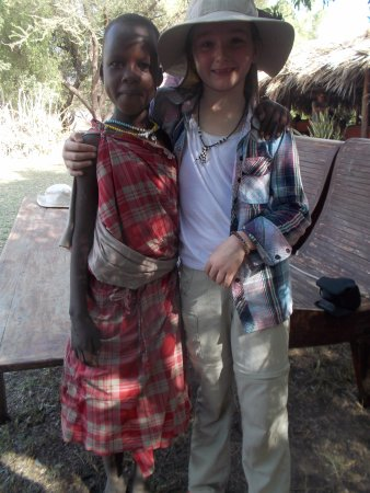 Lake Natron, Tanzania: Maria, our granddaughter's friend