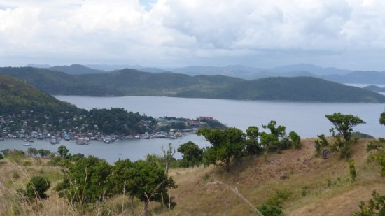Culion, Filipinas: View of town from hill top walk