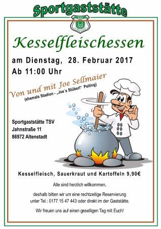 Altenstadt, Alemania: Kesselfleichessen  Fasching Dienstag 28. Februar 2017