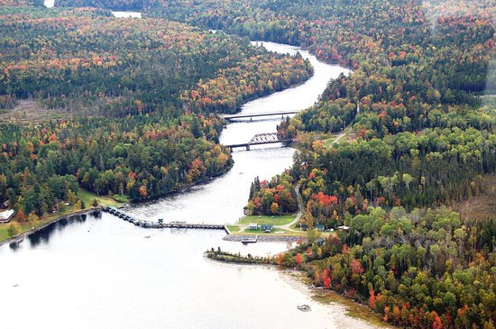 Greenville, ME: The headwaters of the Kennebec River on Moosehead Lake.