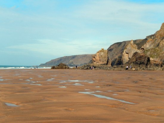 Stibb, UK: The beach.
