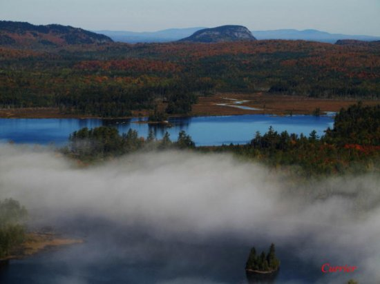 Greenville, ME: Lucky Pond and Eagle Mountain on Moosehead Lake.