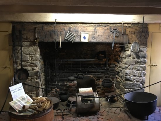 Old Stone House  Fireplace and cooking tools Picture of Washington