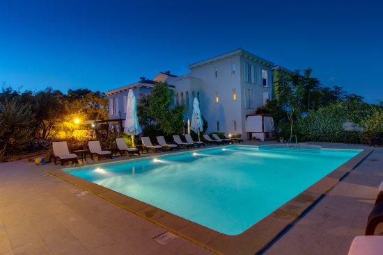 Hotel Manora: manora pool by night