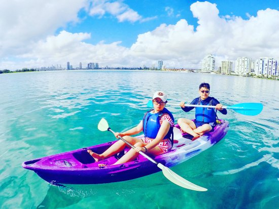 Australian Kayaking Adventures: Kayaking on the clear and clean waters of the Gold Coast.