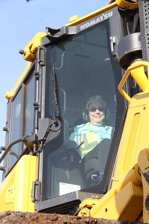 Pottsboro, TX: Having fun in a bulldozer