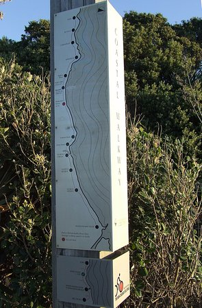New Plymouth, Nova Zelândia: Coastal walkway map