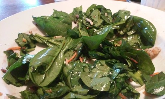 Kingsport, TN: This is what you get for $10.50, a bowl of raw spinach