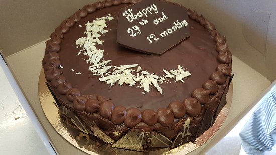Kingston, Canada: Chocolate mousse cake for an order.