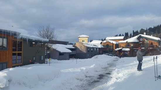 Alta, WY: View of dining areas, bar, etc from front door of lodge