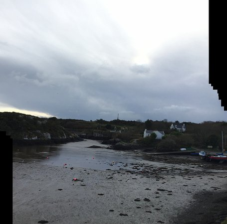 The Heron's Cove: the cove at low tide