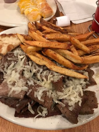 Spring Hill, TN: Gyro plate at the Grecian Pizzeria