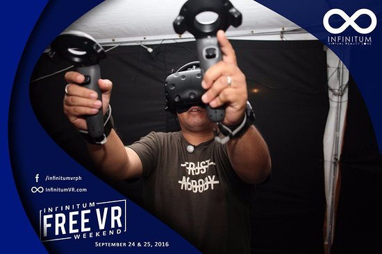 We use the most advanced commercial VR system in the world
