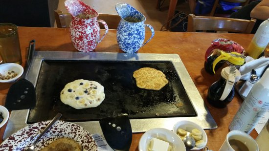 De Leon Springs, FL: pancakes in the making