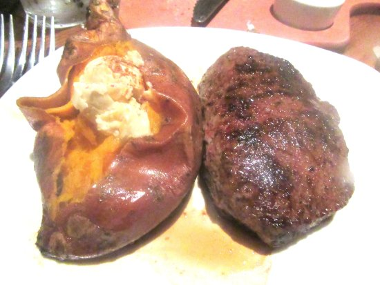 Sirloin Steak and Sweet Potato, Outback Steakhouse, Milpitas, CA