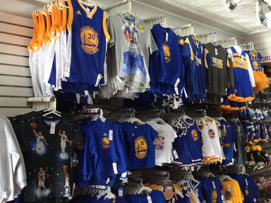 the latest cc9b9 0771a Golden State gear. - Picture of NFL Shop Pier 39, San ...