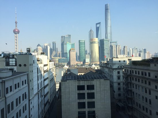 Waldorf Astoria Shanghai on the Bund: 看不到江的江景客房