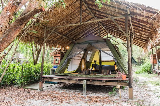 Phayam Friends Tent bungalow on elevated platform with nature material roof and private bathroom & Tent bungalow on elevated platform with nature material roof and ...