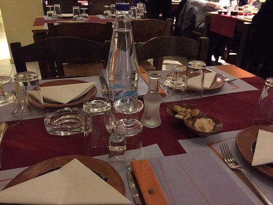 "Marousi, Yunanistan: Our table along with first ""kerasma: , the Cretan Raki."