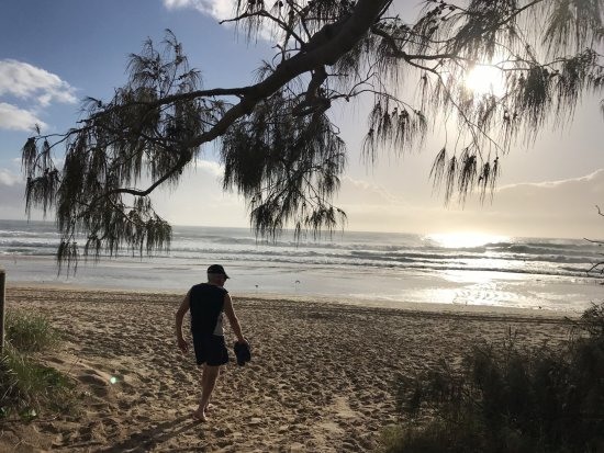 Voyager Resort: Walking on the beach as the sun comes up