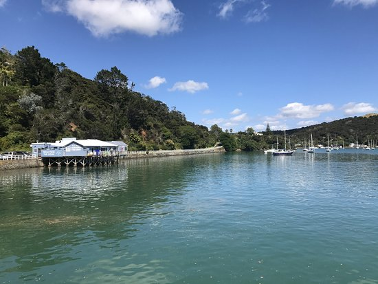 A View from the Mangonui Wharf to the Fish Shop