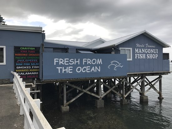 Mangonui, New Zealand: Another view with their advertising