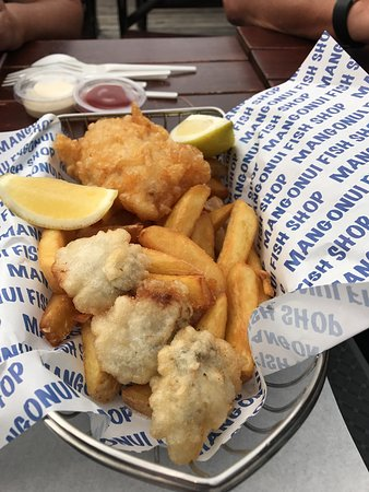 Mangonui, Nueva Zelanda: Hoki, Chips & Oysters