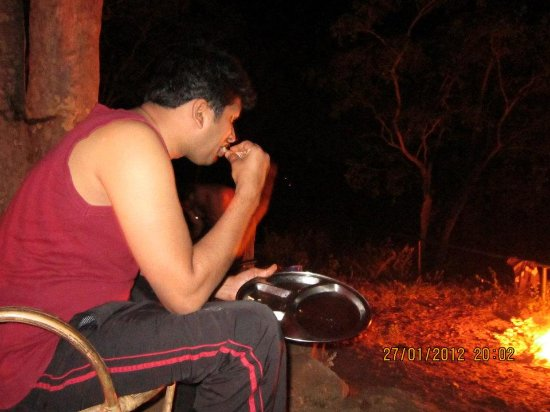 Chinnar Wildlife Sanctuary: Our dinner - BBQ