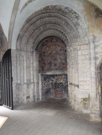 Castle Rising: Former entrance to the Great Hall