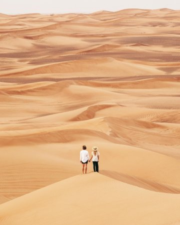 The golden sands of Dubai's desert await