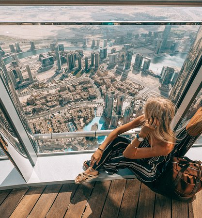Dubai, United Arab Emirates: Take a peek at the city from At The Top, Burj Khalifa