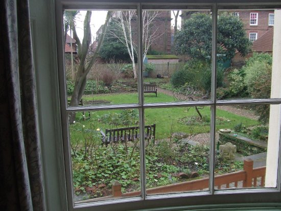 Temple Lodge Club: View of the garden from library window