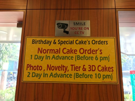 Merwans Cake Stop Info On Birthday Ordering