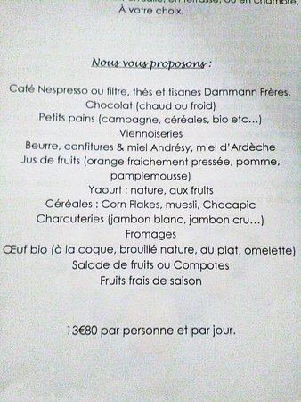 Hotel La Bastide d'Iris: Petit déjeuner
