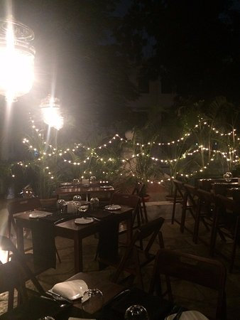 new styles 8689b 23c69 The outdoor eating area. Fairylights and greenery ...