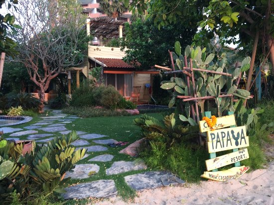 Casa Papaya Boutique Resort: Entrance from the beach