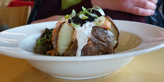 The Gateway Restaurant: Baked potato - with caviar