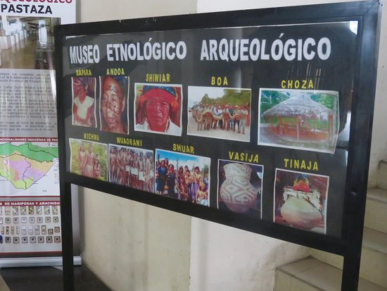 sign showing the indigenous tribes near Puyo