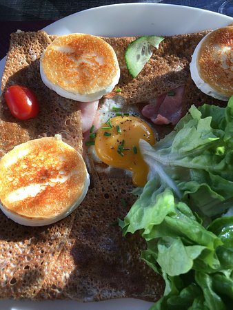 Erquy, France: crepe goat cheese ham and egg