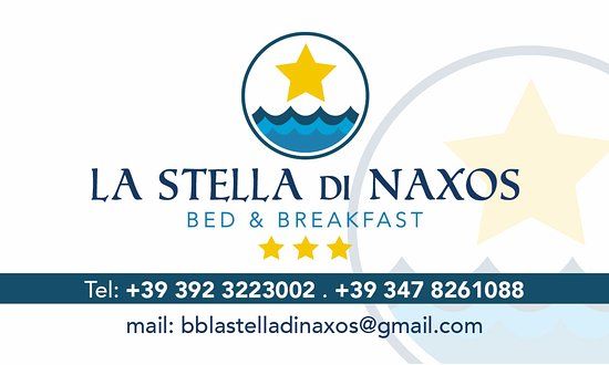 B&B La Stella di Naxos: Insegna