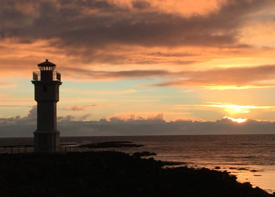 Sunset at the Akranes lighthouse