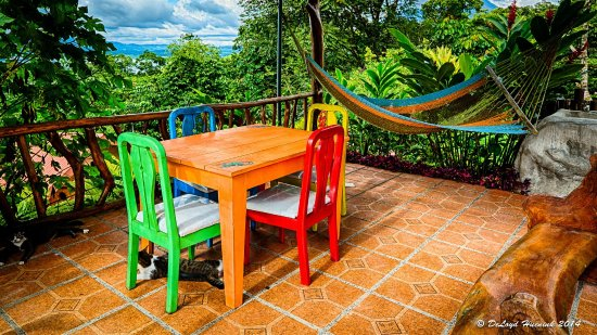 Encantada Guest House: Upper Terrace, a Great place to watch the Sunset.