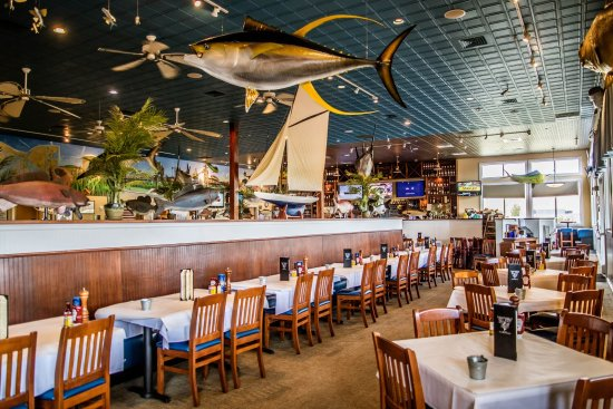 Big Fish Grill On The Riverfront High Ceilings And Spacious Dining Room Large