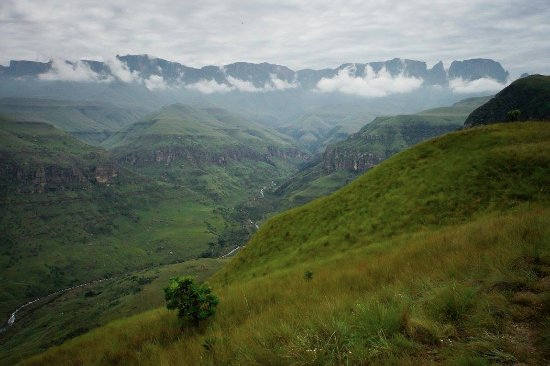 uKhahlamba-Drakensberg Park, South Africa: Top of Van Heynigen's Route